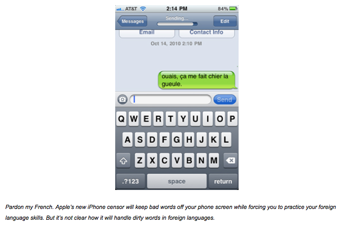Préférence Killer app: Seven dirty words you can't say on your iPhone | OUPblog KS08