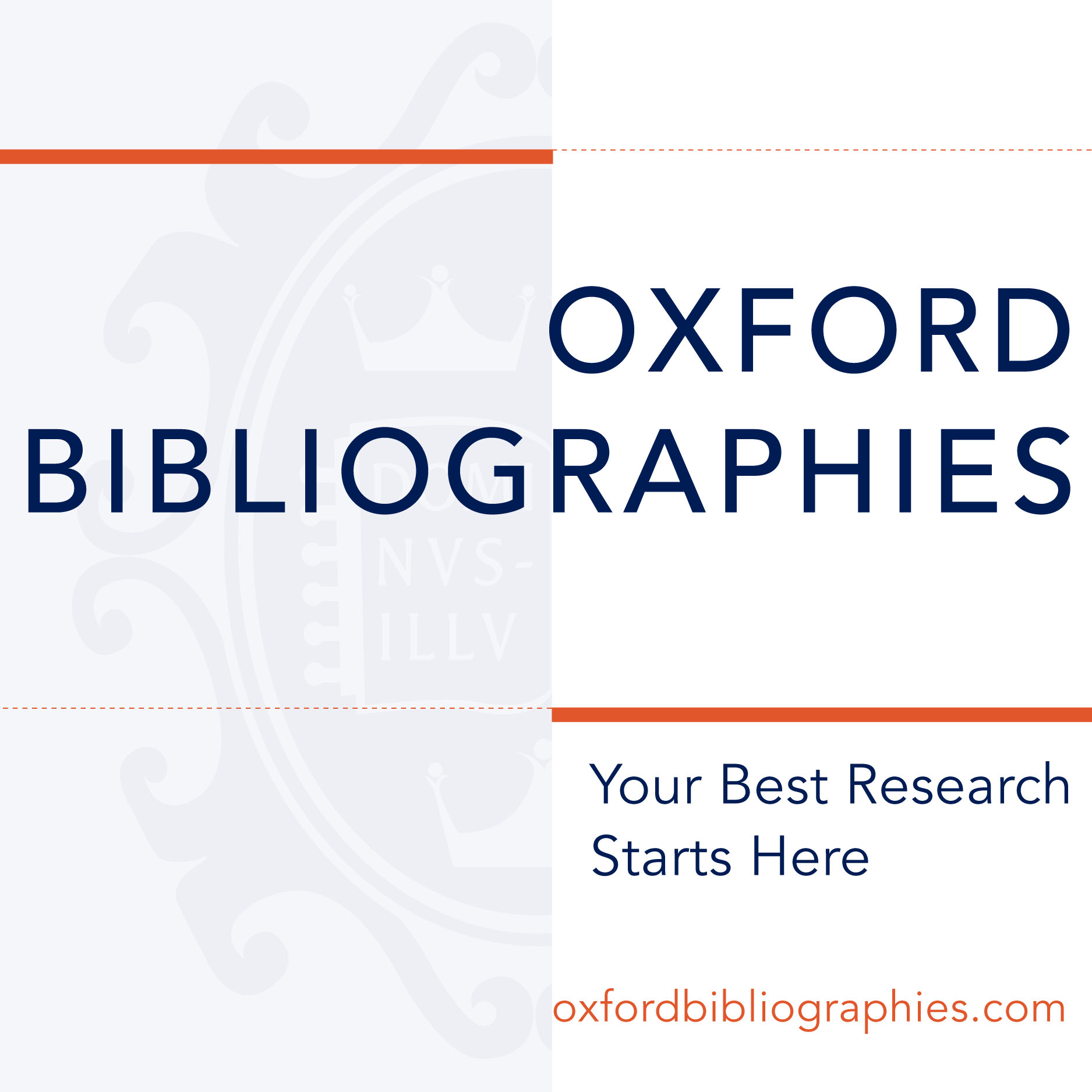 OBO Oxford Bibliographies NEW 2012
