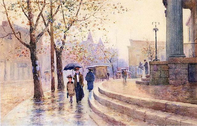 Walking in the Rain by Paul Sawyer, c. 1910