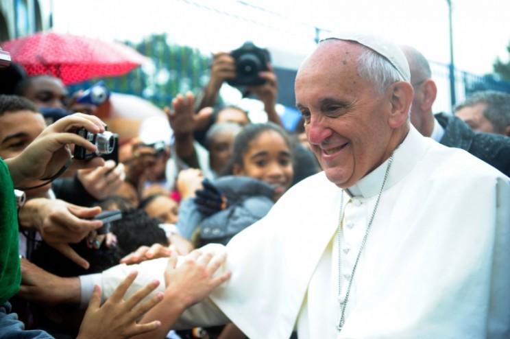 Pope Francis at Varginha, 27 July 2013.