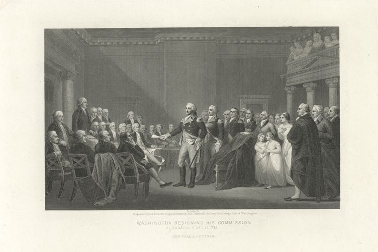 Washington Resigning Commission at Annapolis