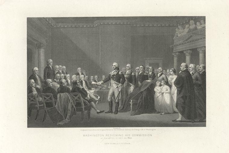 Washington Resigning Commission at Annapolis