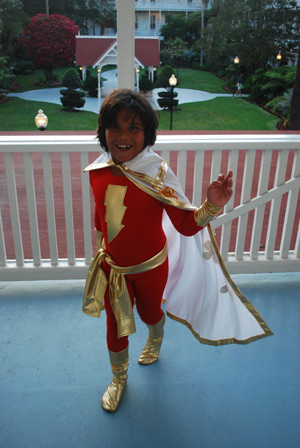 Seth Zenker dressed as Captain Marvel for his Comic Con appearance this year. Photo by Gary Zenker. Used with permission. All rights reserved.