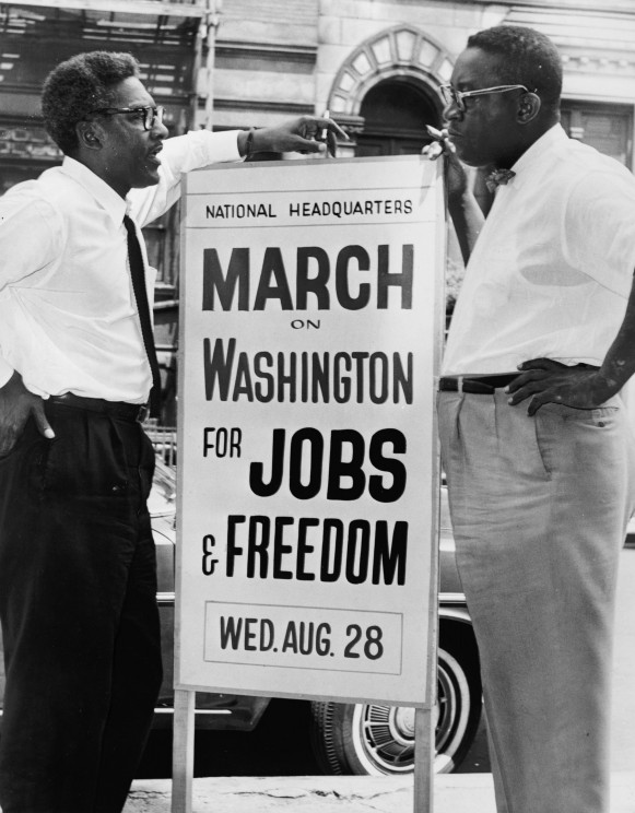 Organizers Bayard Rustin and A. Philip Randolph