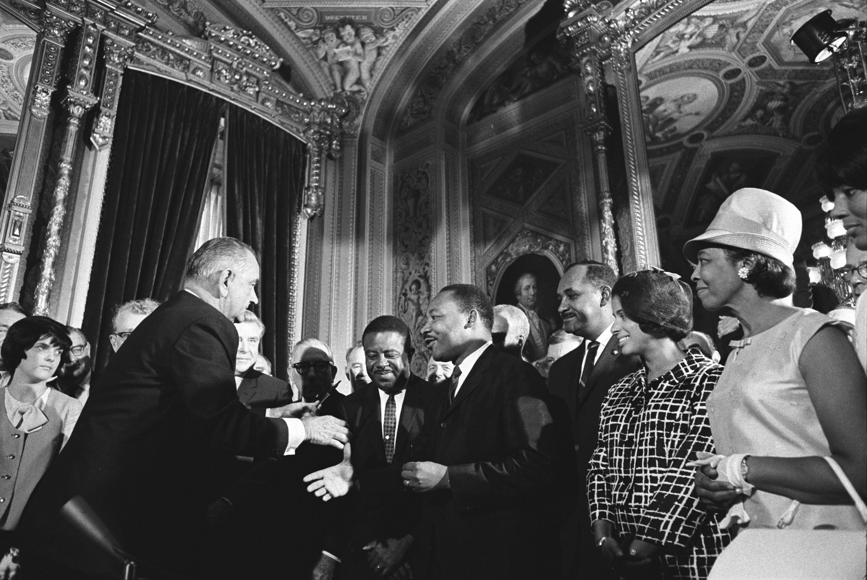 Lyndon Baines Johnson Meets with Civil Rights Leaders
