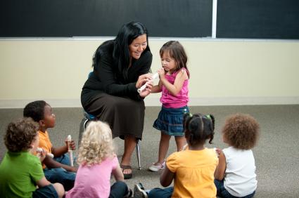 Preschooler music class