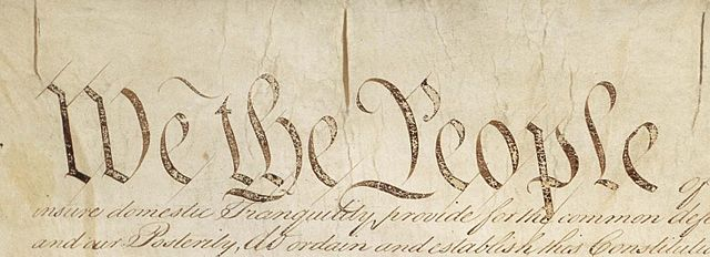 US Constitution. Public domain.