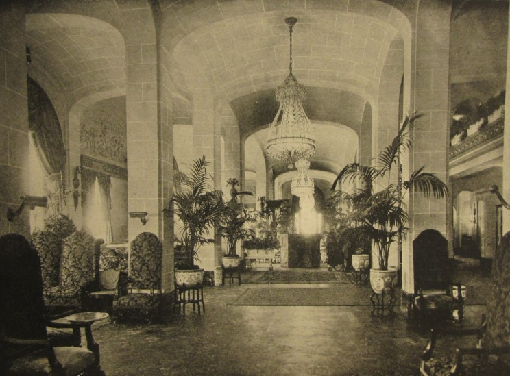 Entrance lobby to the Vanderbilt Hotel, from The New York Architect, Vol. VI, no. 60, January-February 1912.