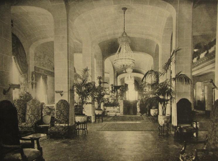 Entrance lobby to the Vanderbilt Hotel, from The New York Architect, Vol. VI, no. 60, January-February 1912.