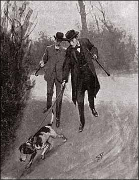 "Sherlock Holmes in ""The Adventure of the Missing Three-Quarter."" Illustration by Sidney Paget. Strand Magazine, 1904. Public domain via Wikimedia Commons."