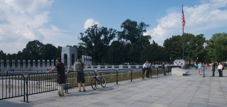 The National World War II Memorial closed during the United States federal government shutdown of 2013.