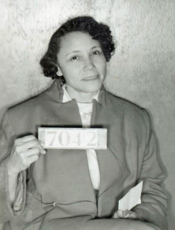 Jo Ann Robinson booking photo. Photo Courtesy of the Encyclopedia of Alabama.