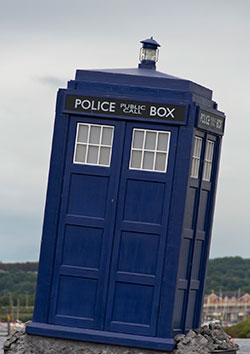 The Doctor Who TARDIS, via Wikimedia Commons