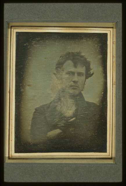 Robert Cornelius, self-portrait; Library of Congress Prints and Photographs Division