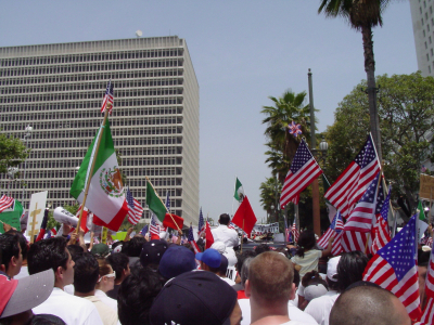 "A photograph of the May 1st, ""Day without an Immigrant"" demonstration in Los Angeles, California. © elizparodi via iStockphoto."