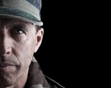 Dramatic Soldier Portrait