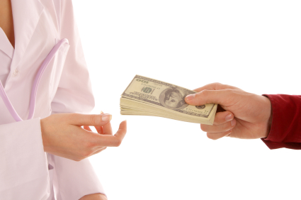 Paying doctor with cash