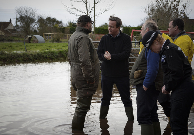 David Cameron visited Somerset to see the impact of the floods and meet local residents, farmers and emergency teams. The Prime Minister's Office. Crown Copyright via Flickr.