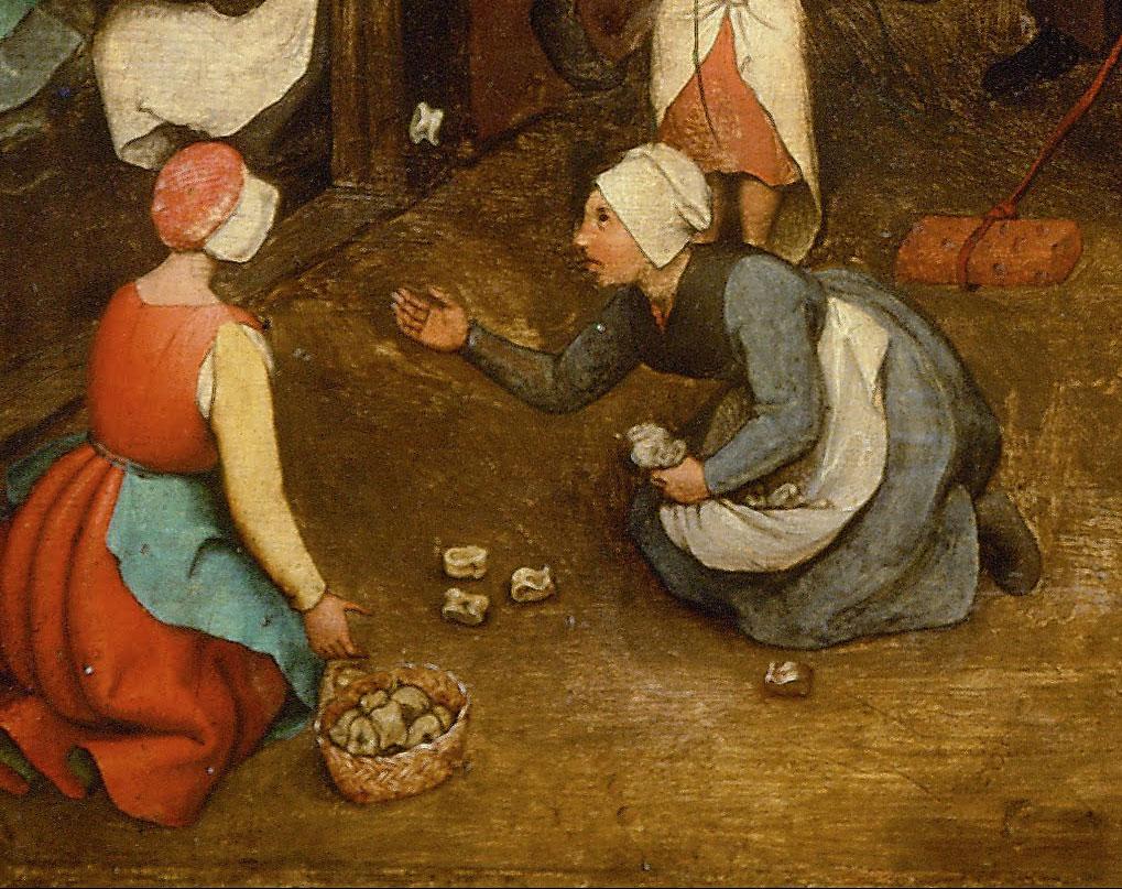 knucklebones, Children's Games, Pieter Brueghel