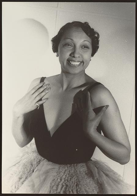 Josephine Baker, as photographed by Carl Von Vechten in 1949. Courtesy of the Library of Congress.
