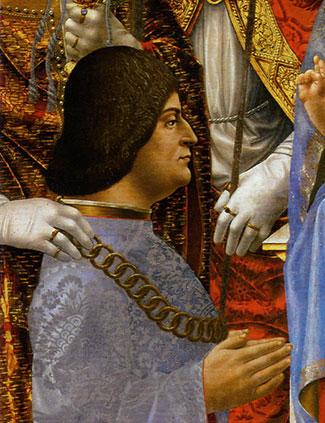 Ludovico Sforza, Duke of Milan. Sforza Altarpiece, 1495