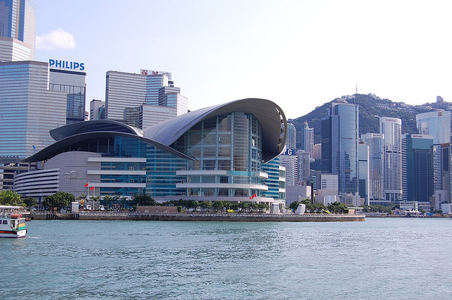 Hong Kong Convention and Exhibition Centre. hotot by Edwin. CC BY 2.0. via Edwin.11 Flickr.