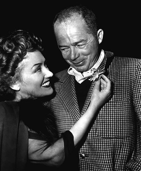 Studio publicity photo of Billy Wilder and Gloria Swanson, circa 1950. Public domain via Wikimedia Commons.