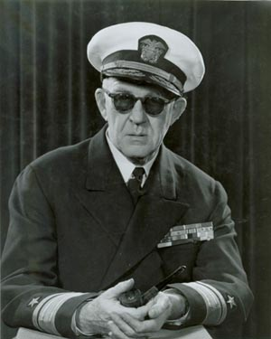 Director John Ford, who was also a Rear Admiral in the Navy Reserve, 1952. US Navy. Public domain via Wikimedia Commons.