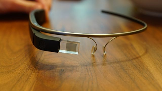 Google's augmented reality head mounted display as glass form. Photo by Ted Eytan. CC BY-SA 2.0 via taedc Flickr.