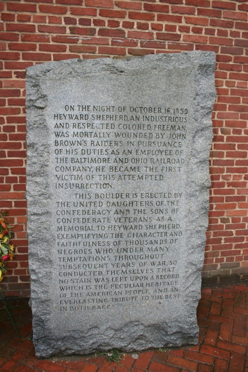 Harpers Ferry monument to Heyward Shepherd