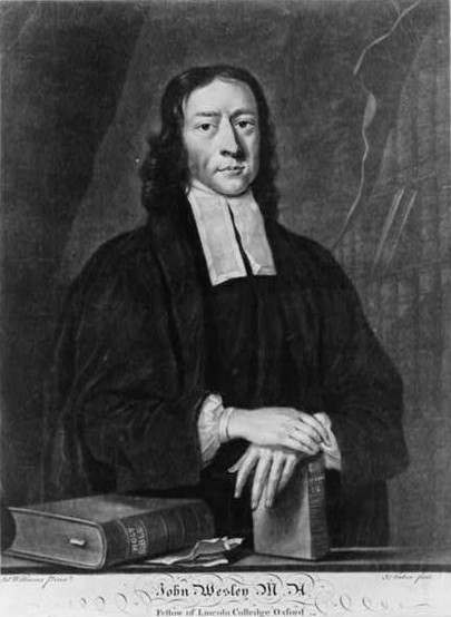 John Wesley (1703-1791), founder of Methodism. Public domain via Library of Congress