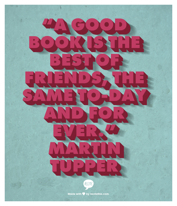 martin tupper good book friend
