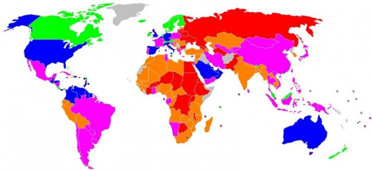 World of Happiness map