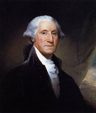 George Washington by Gilbert Stuart. Public domain via Wikimedia Commons.