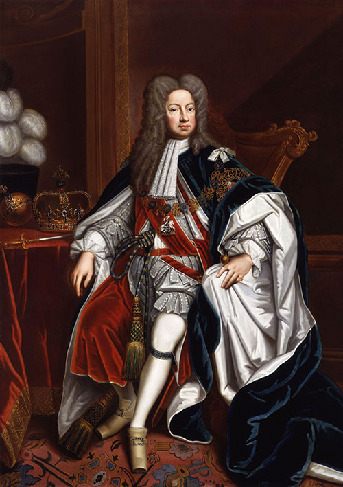 King George I by Sir Godfrey Kneller, 1714. Public domain via Wikimedia Commons.