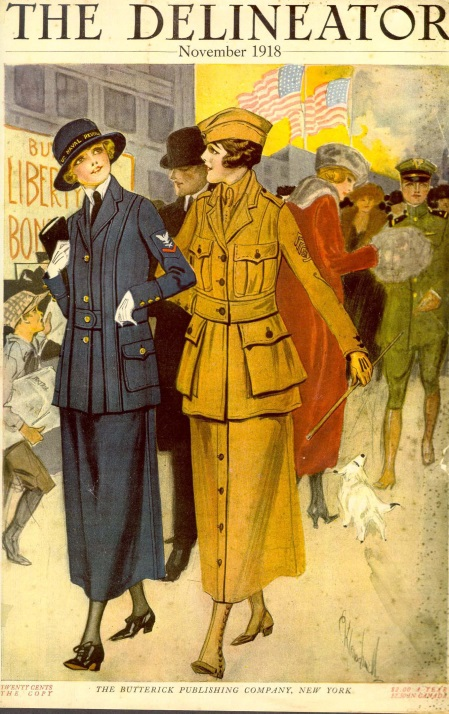 Official Yeowoman's Costume of the US Navy 1101 Delineator, November 1918. Commercial Pattern Archive, University of Rhode Island.