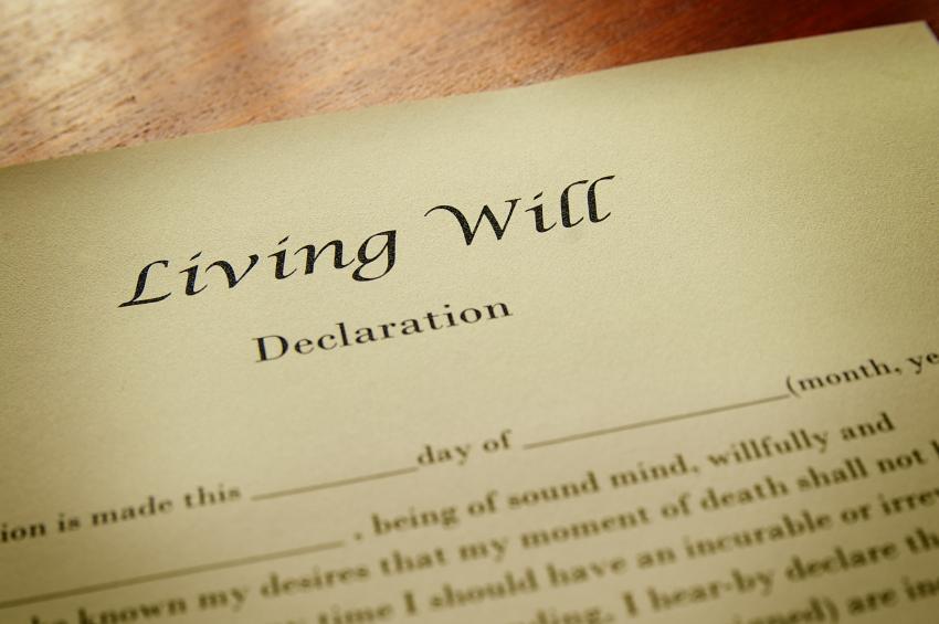 Macro of a living will document. © zimmytws via iStockphoto.