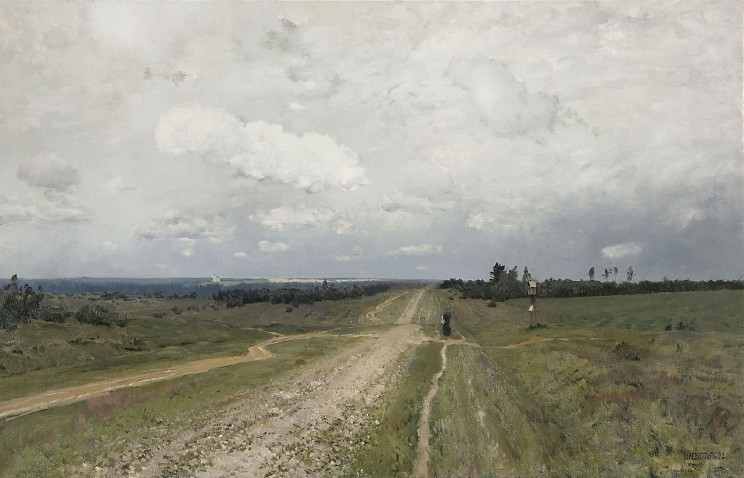 Before 1917, crowds of prisoners in shackles marched along the Vladimir Highway, known as Vladimirka, to the place of their exile in Siberia. (Isaak Levitan. The Vladimirka (1892). Tretyakov Gallery, Moscow. Public domain via Wikimedia Commons)