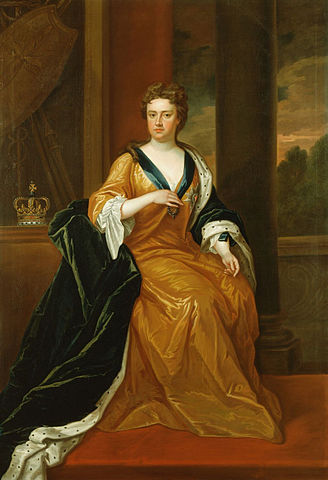 Portrait of Anne of Great Britain by Charles Jervas, 1702-1714, Royal Collection, public domain via Wikimedia Commons.