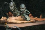 V0017053 An unconscious naked man