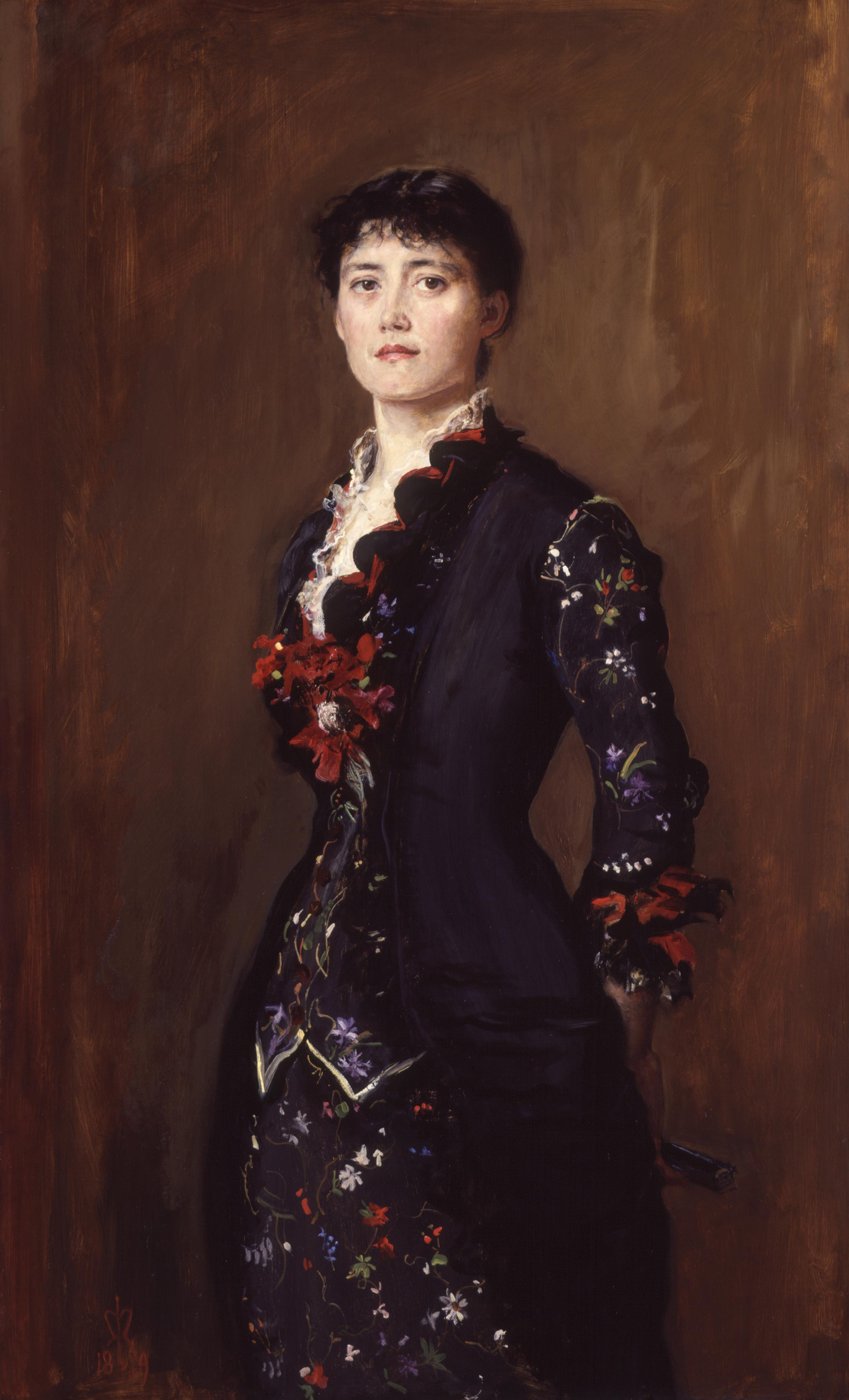 Louise Jane Jopling (née Goode, later Rowe), by Sir John Everett Millais. National Portrait Gallery, London: NPG 6612. Wikimedia Commons