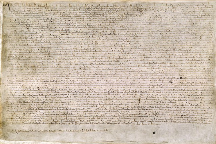Magna Carta, courtesy of the British Library. Public domain via Wikimedia Commons.