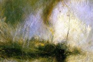 Snowstorm by William Turner. Public Domaon via Wikimedia Commons