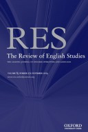 The Review of English Studies cover