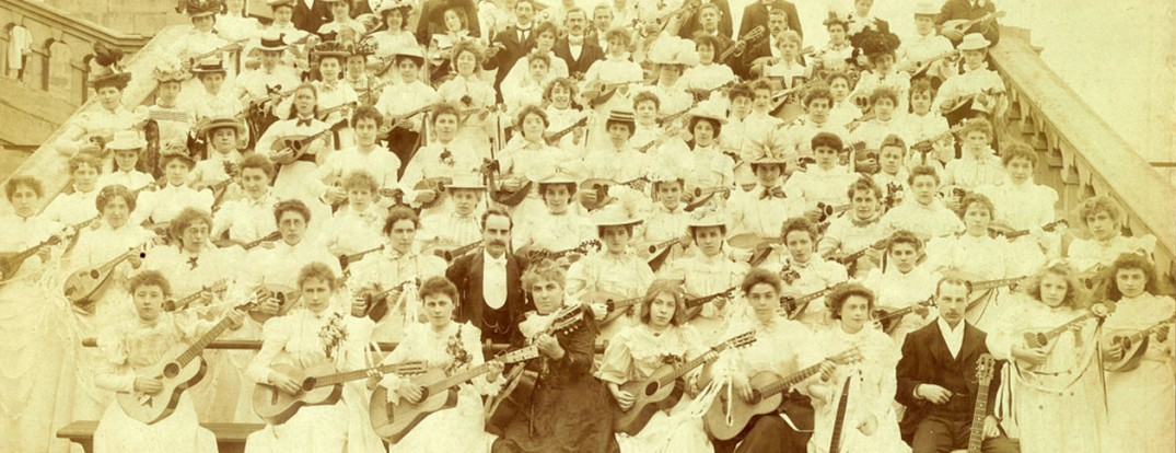 Polytechnic peoples palace mandoline guitar band 1899 crystal palace
