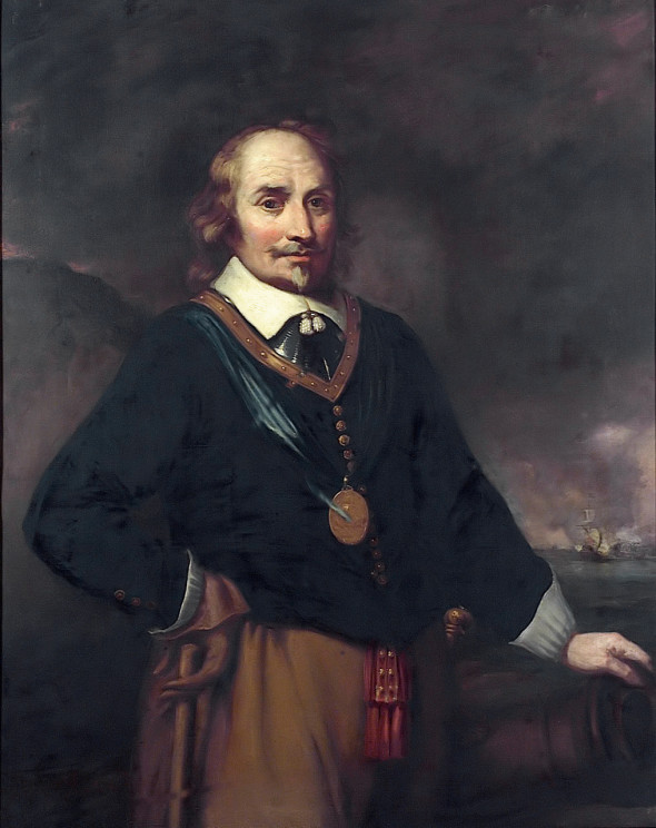 Van Tromp, a famous Dutch admiral, who was fond of broom symbolism.