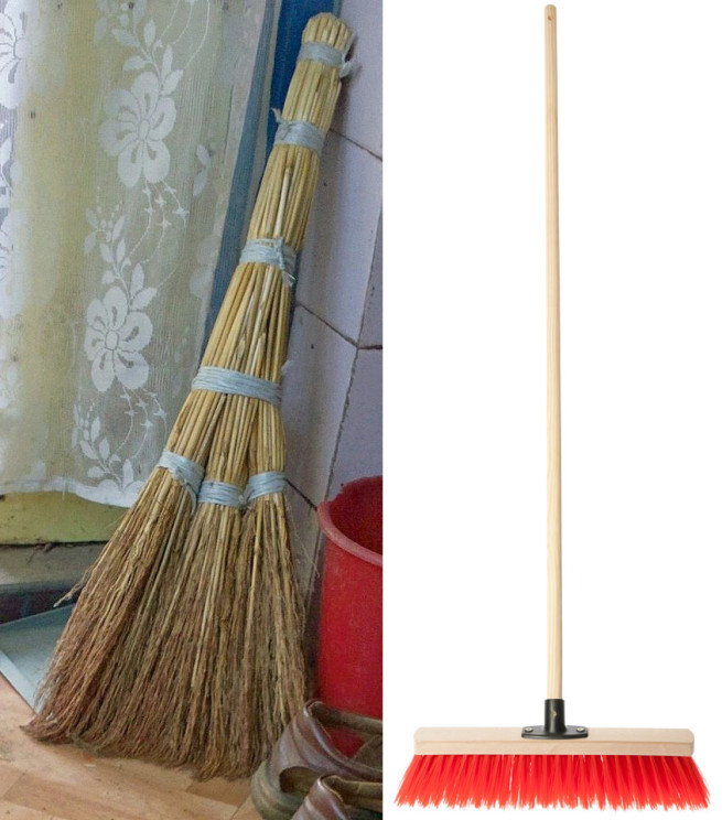 This is a besom, and that is a broom