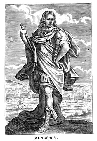 Xenophon in Thomas Stanley's History of Philosophy (1655). Public Domain via Wikimedia Commons.