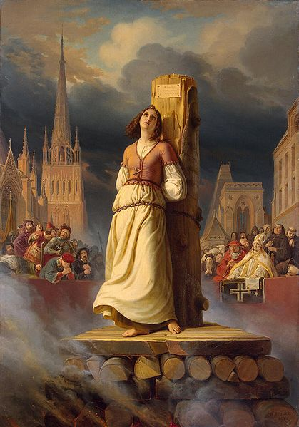 Joan of Arc's Death at the Stake by Hermann Anton Stilke. Public Domain via Wikimedia Commons.