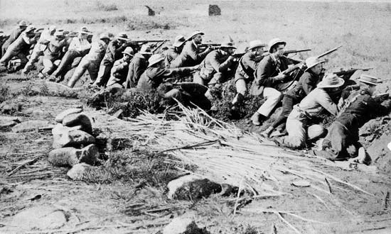 Here is one of the sad scenes from the Anglo-Boor War.
